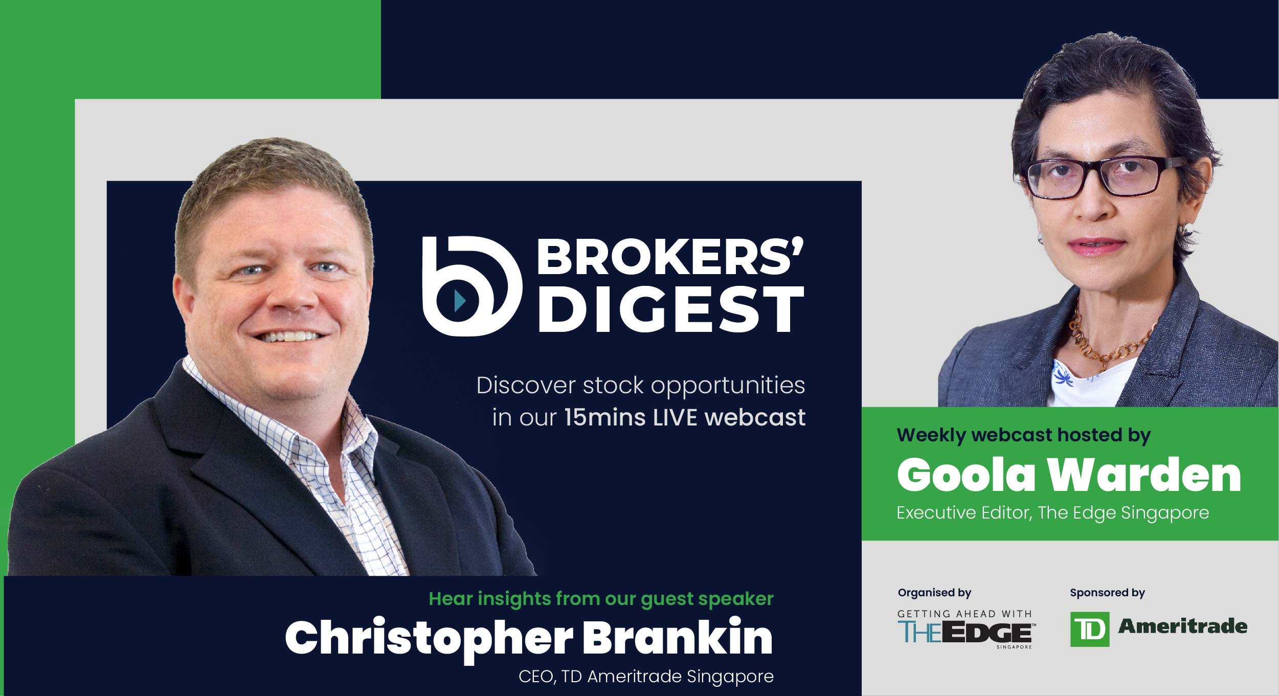 The Edge Singapore launches the all-new Brokers' Digest LIVE webcast series
