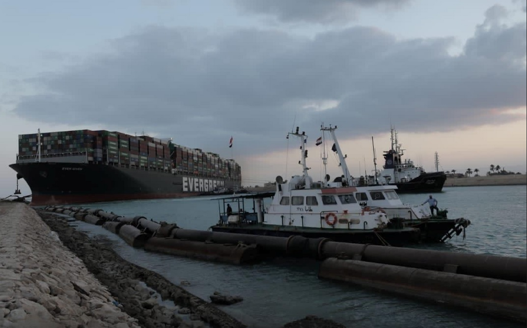 Ship blocking Suez Canal partially refloated