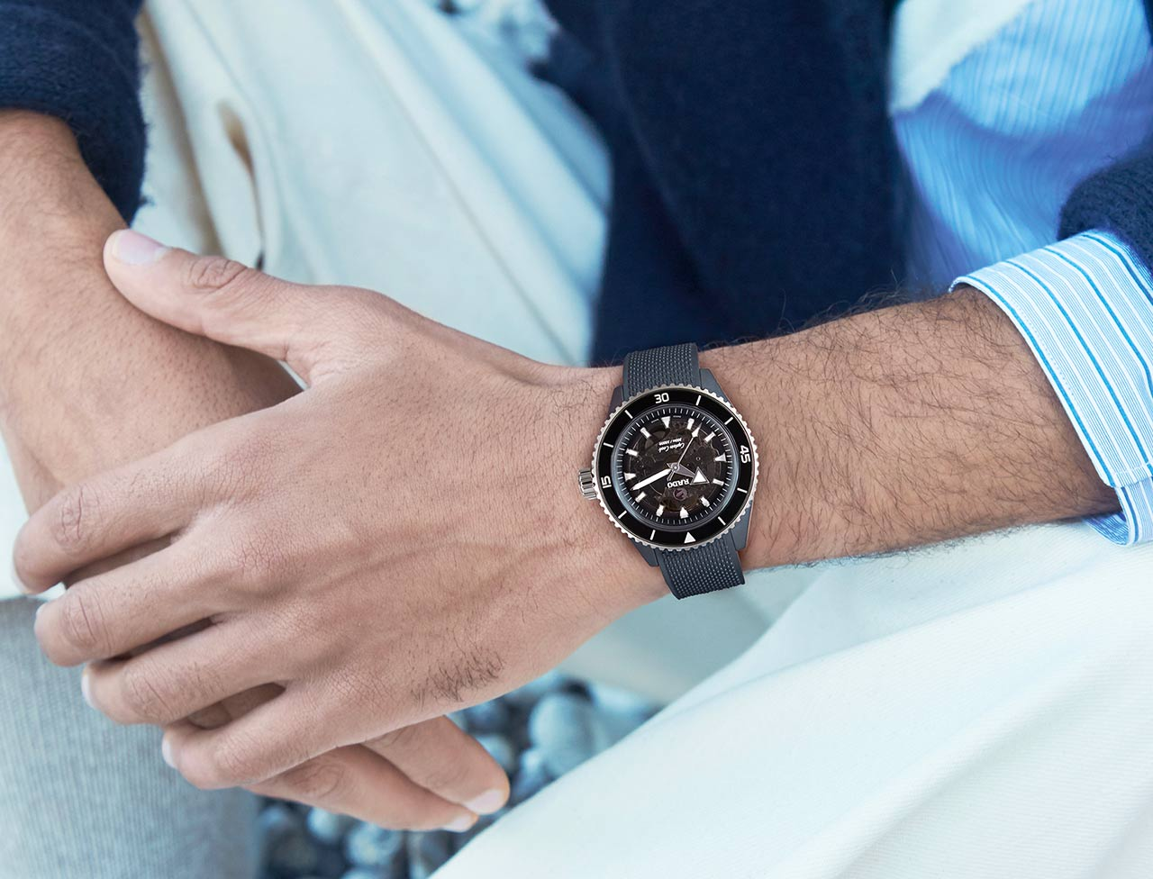 Discover the beauty of Rado's updated Captain Cook High-Tech Ceramic timepieces
