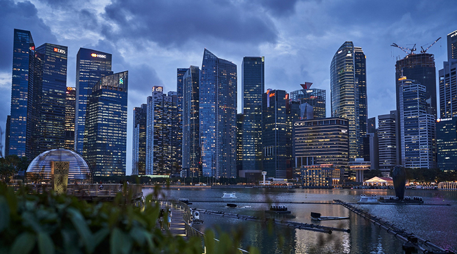 Singapore property firms face setback as workers stay at home
