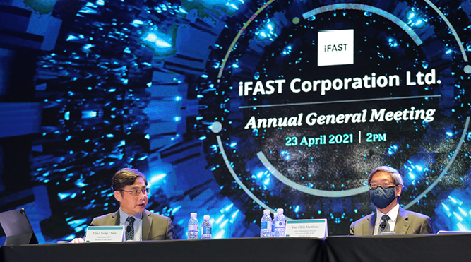 iFAST Corp posts fifth consecutive quarter of record AUA, 1H21 net profit up 94%