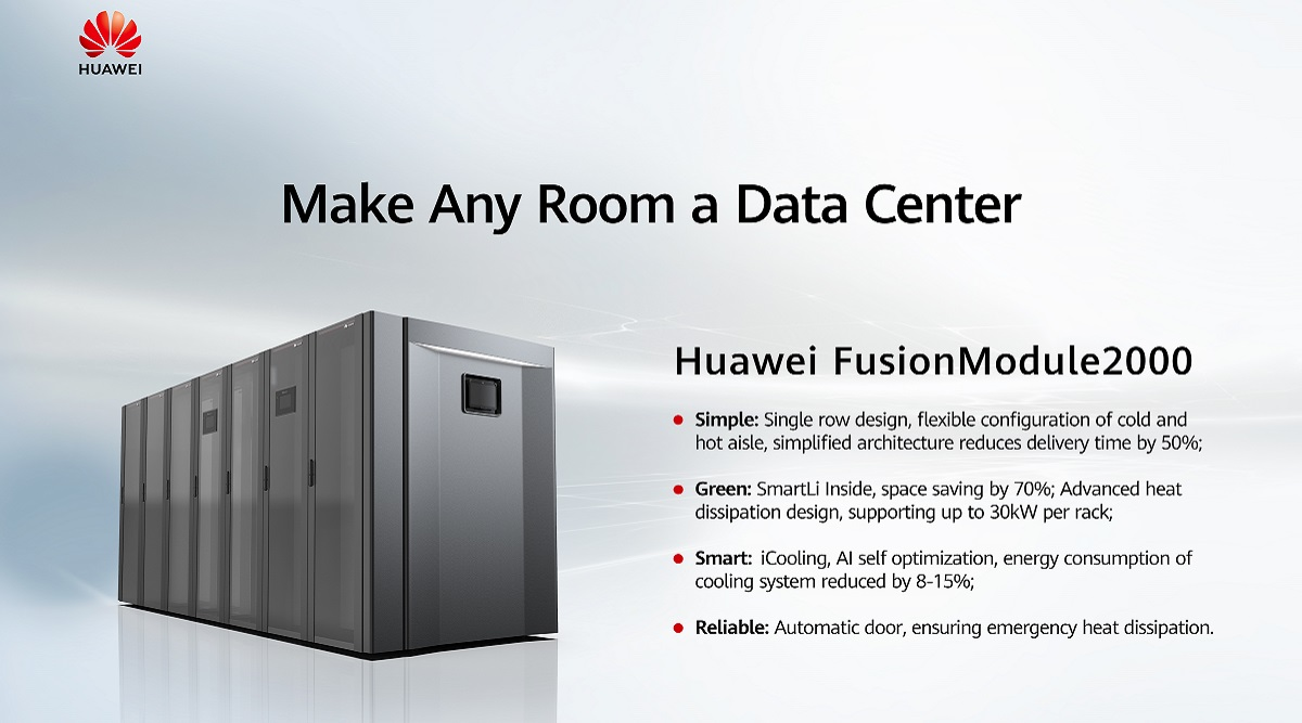 Huawei turns any room into a data centre