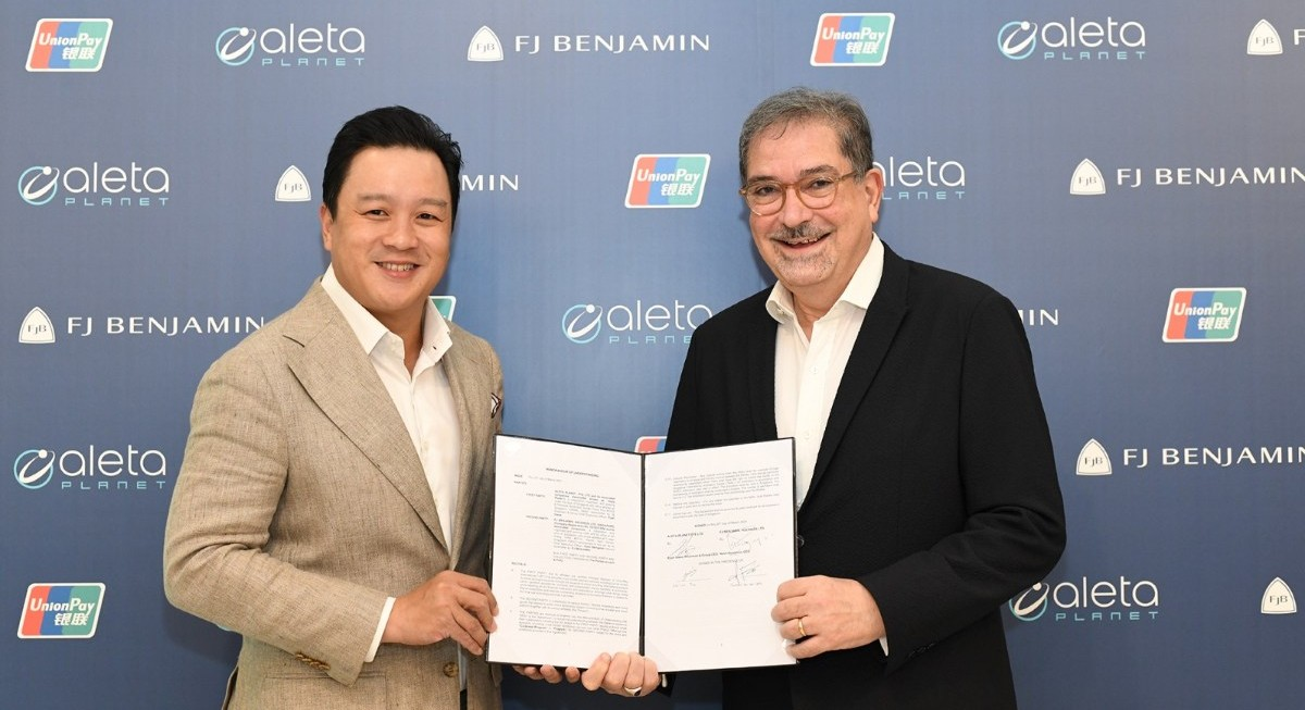 F J Benjamin and fintech Aleta Planet to launch co-branded UnionPay virtual debit card - THE EDGE SINGAPORE
