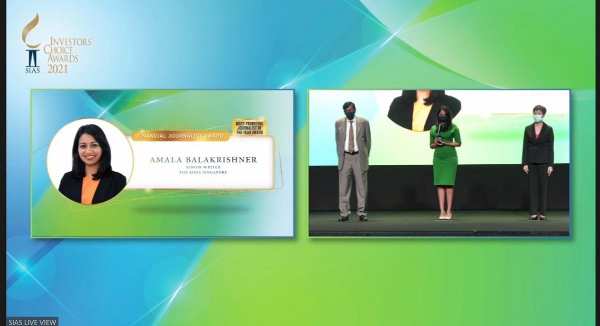 "SIAS names Amala Balakrishner of The Edge Singapore ""Most Promising Journalist of the Year"" - THE EDGE SINGAPORE"
