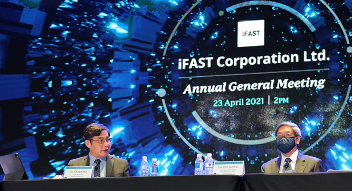iFAST Corp posts fifth consecutive quarter of record AUA, 1H21 net profit up 94% - THE EDGE SINGAPORE